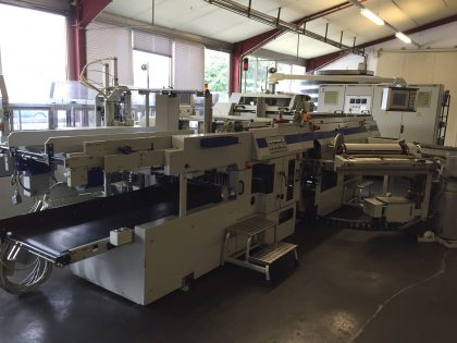 DA 232 case-maker-PL 740 case palletizer; reduced in price