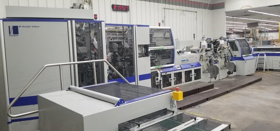 Moving a complete Kolbus hardcover line BF 530