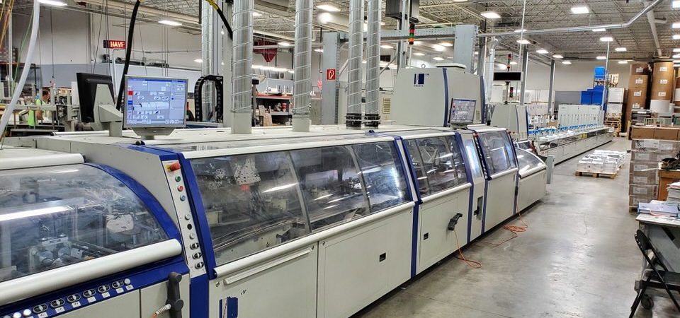 PFP finished installing a 2011 Kolbus KM 600 Perfect Binding line